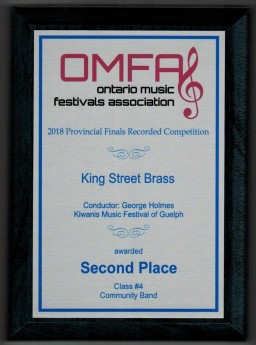 Kiwanis Ontario - 2019 - 2nd Place - plaque